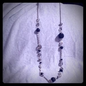 Black and Silver Jessica Simpson Necklace